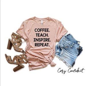 Teacher shirt - coffee teacher shirt - pick color